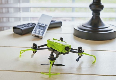 Green drone in the house.